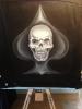 Pik-Skull auf Jeansjacke